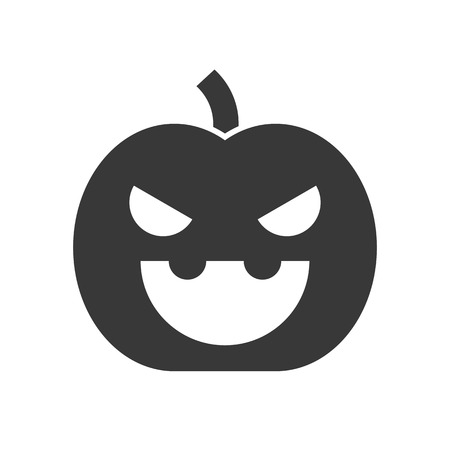 jack o lantern, Halloween solid vector icon