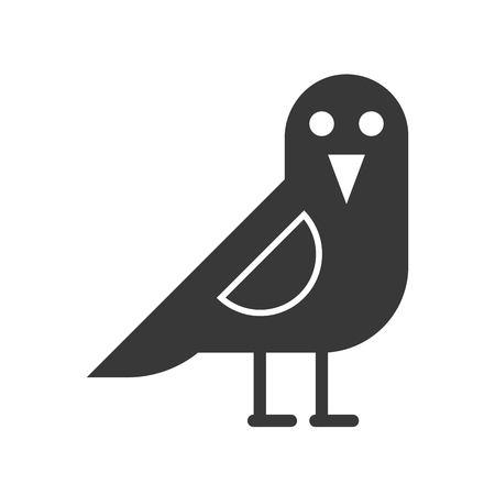 crow bird, Halloween related icon vector illustration