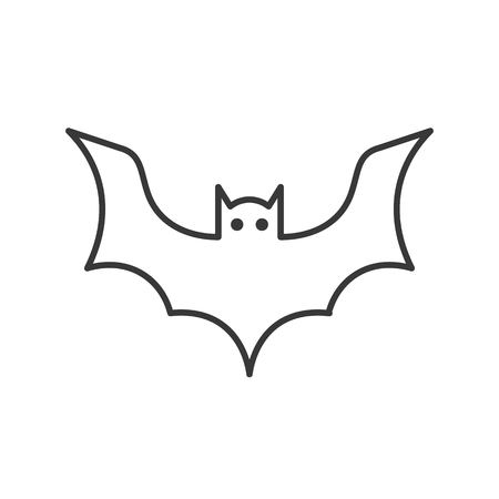bat icon, halloween related character, editable stroke