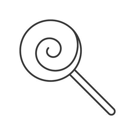 lollipop, sweets and candy icon, thin line editable stroke