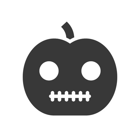 jack o lantern, Halloween related, glyph icon design