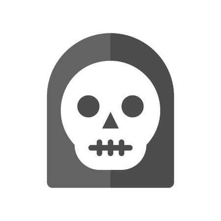 Todesengel, Halloween-Zeichensatzikone, flaches Design