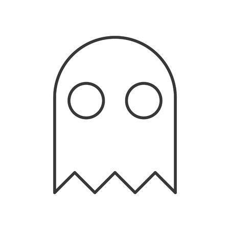 halloween character, haunt ghost character icon, editable stroke