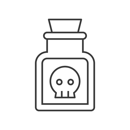 poison or potion,voodoo or black magic ingredient in jar, Halloween icon