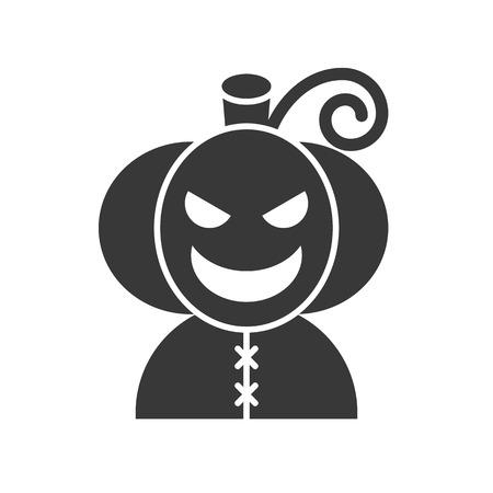 Jack o lantern character, Halloween related icon Ilustração