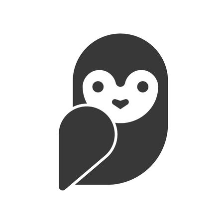 barn owl, Halloween related icon, pixel perfect design