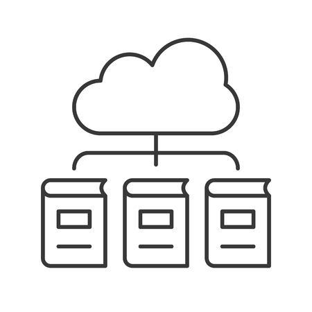 library cloud computing concept icon vector illustration Illustration