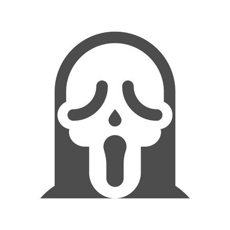 horror mask, halloween character set icon, flat design