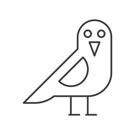 crow bird, Halloween related icon, outline editable stroke