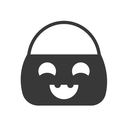 trick or treat bucket, Halloween related, glyph icon design Ilustração