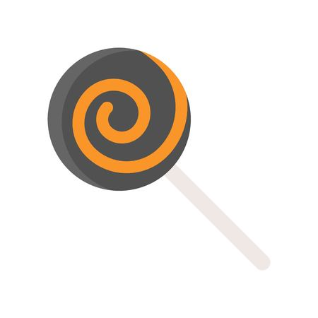 lollipop, sweets candy Halloween related icon in flat design