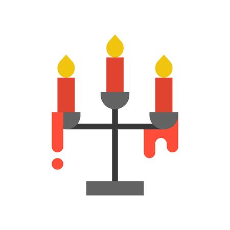candle holder, Halloween related icon vector illustration