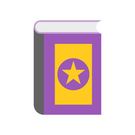 magic book, Halloween related icon vector illustration
