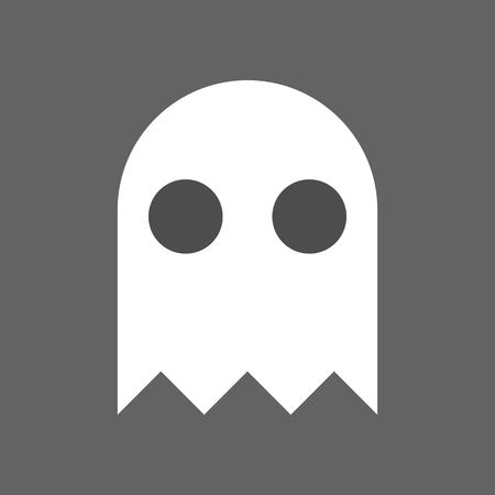 ghost, halloween character set icon, flat design Çizim