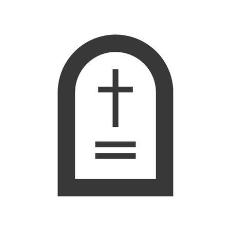 grave stone, Halloween related, glyph icon design Illusztráció