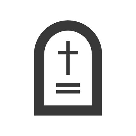 grave stone, Halloween related, glyph icon design Illustration