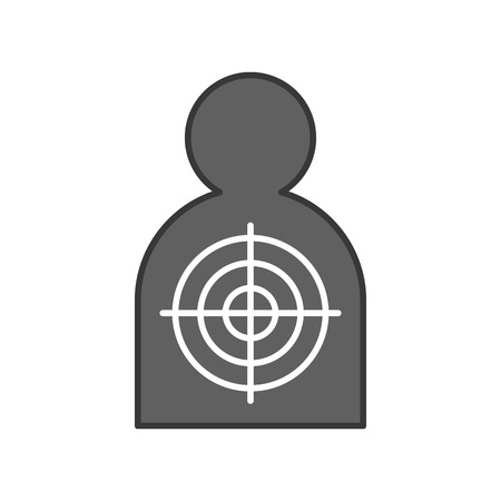 human shape shooting target, police related icon editable stroke Illustration