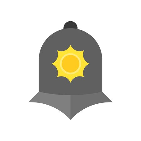 England police helmet icon in flat design