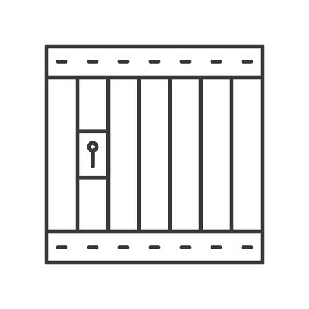 prison cell icon, police related editable stroke Çizim