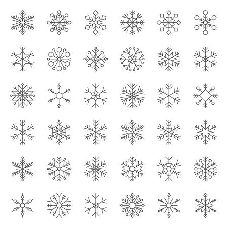 Snowflakes vector icon pixel perfect editable stroke Illustration