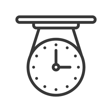 celling clock icon, outline design editable stroke pixel perfect