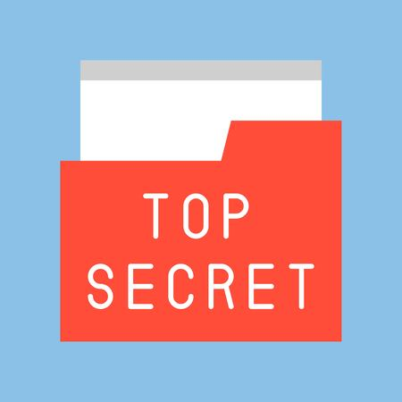top secret file and folder, police related icon