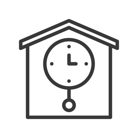 pendulum clock, pixel perfect icon outline design editable stroke Illustration