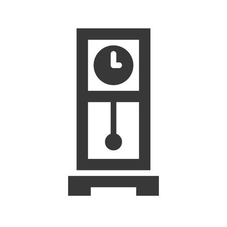 pendulum clock, pixel perfect icon vector illustration Illustration