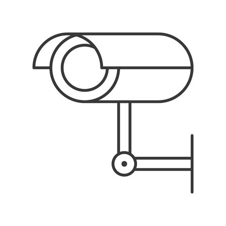CCTV camera, police related icon outline design editable stroke