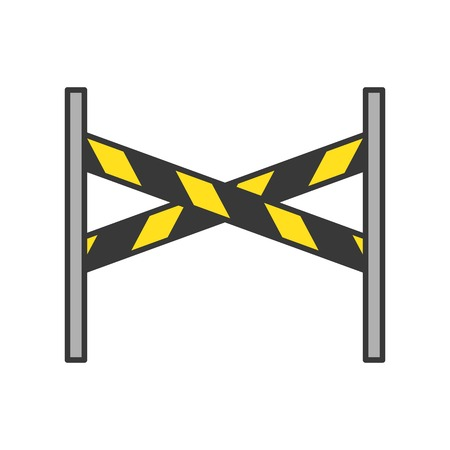 barrier stand, police related icon editable stroke