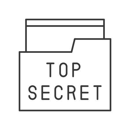 top secret file and folder, police related icon editable stroke Illustration