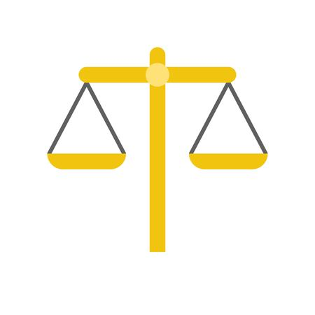 balance scale, law and justice vector icon
