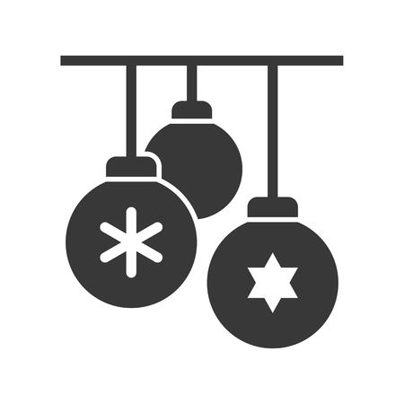 Christmas ball, Merry Christmas icon set, solid design