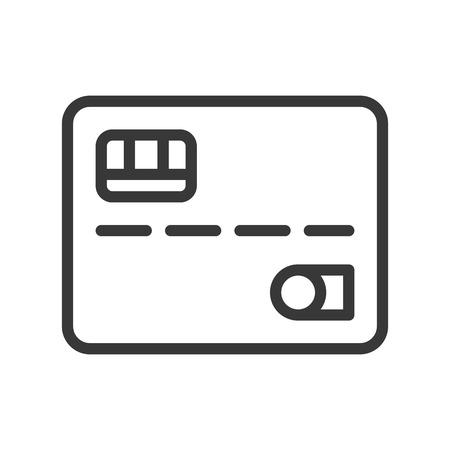 credit card, bank and financial related icon, editable stroke outline