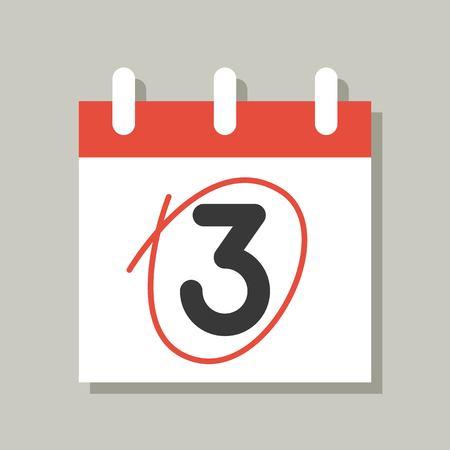 calendar icon, flat design vector pixel perfect  イラスト・ベクター素材