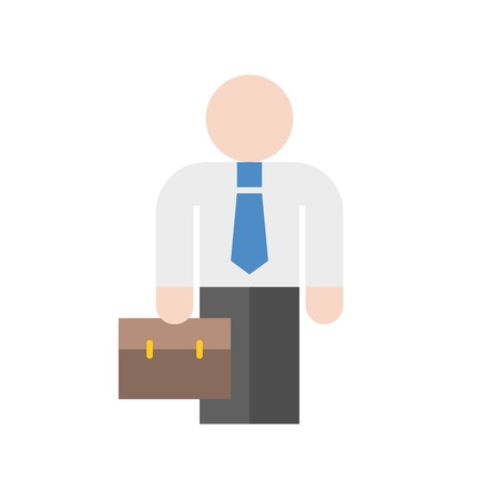 businessman or investor carry briefcase, business icon