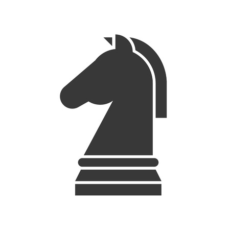 horse chess icon, strategy in business concept