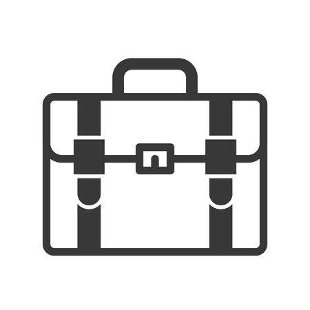 briefcase vector icon, business and education concept Illustration