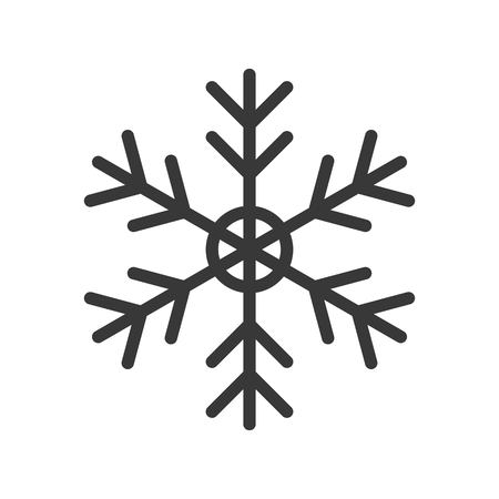 Snow flake, Merry Christmas related icon set, filled outline design editable stroke