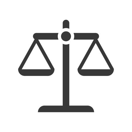balance scale, law and justice icon, glyph design Illustration