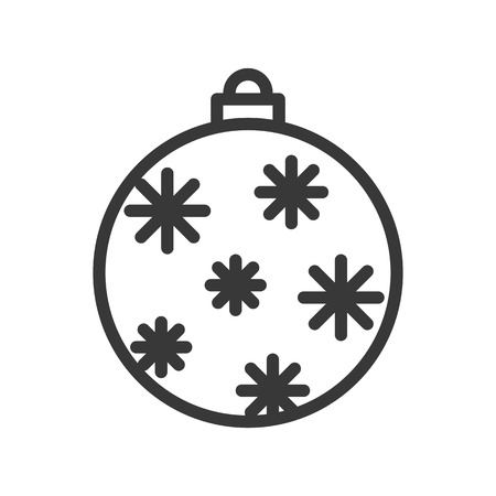 christmas ball, bauble, suitable for use as material, editable outline icon