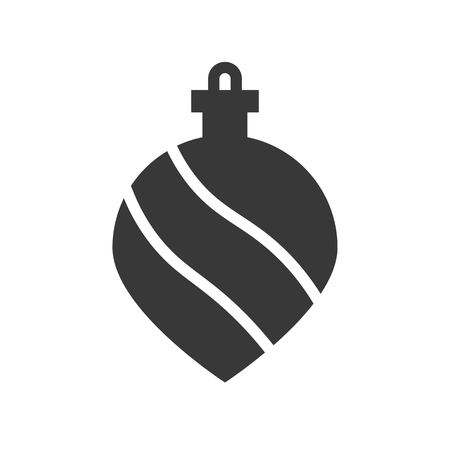 christmas ball, bauble, suitable for use as material, editable solid icon
