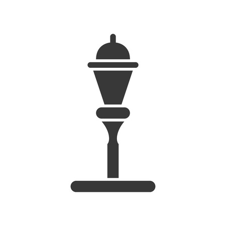 Lantern or lamp vector icon, solid design