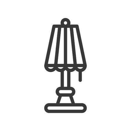 Lantern or lamp vector icon, line design editable stroke