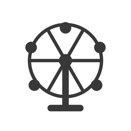 Ferris wheel vector icon, amusement park related solid design