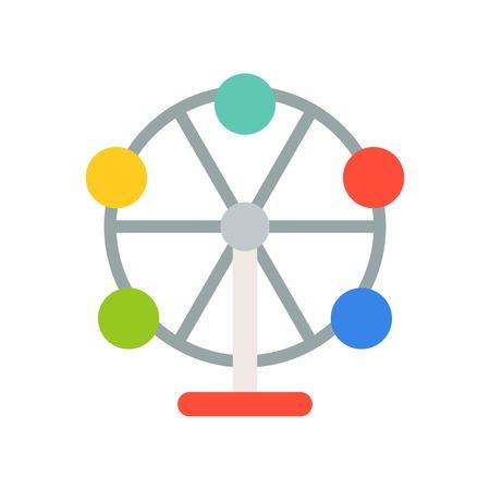 Ferris wheel vector icon, amusement park related flat design Vektoros illusztráció
