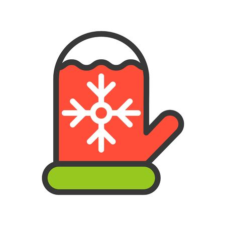 Christmas glove vector, Christmas related filled design icon, editable outline Stock fotó - 113140824