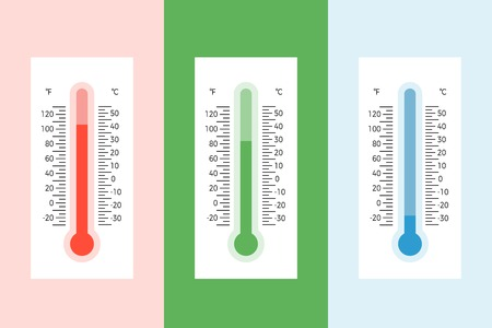thermometer illustration flat style vector with scale Illustration