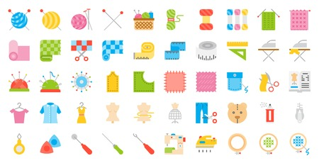 Sewing, handcraft and fashion design related icon