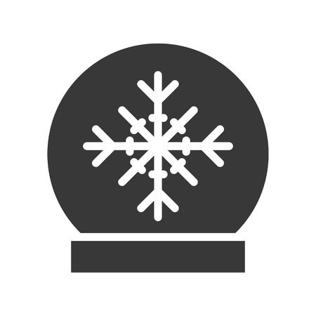 Snow globe vector, Chirstmas related solid design icon Illustration